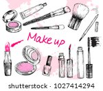 beauty store collection with... | Shutterstock .eps vector #1027414294