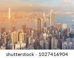 hong kong city business...   Shutterstock . vector #1027416904