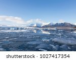 beautiful ice lake and blue sky ... | Shutterstock . vector #1027417354