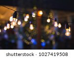 light bulb decor in outdoor... | Shutterstock . vector #1027419508
