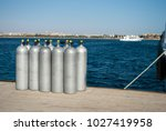 cylinders with oxygen for...   Shutterstock . vector #1027419958