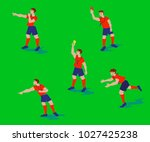 vector illustration from soccer ... | Shutterstock .eps vector #1027425238