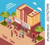 cinema building isometric... | Shutterstock . vector #1027427098