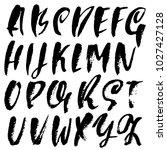 handdrawn dry brush font.... | Shutterstock .eps vector #1027427128