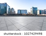 empty marble with modern office ... | Shutterstock . vector #1027429498