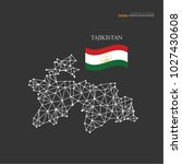 outline map of tajikistan  with ... | Shutterstock .eps vector #1027430608