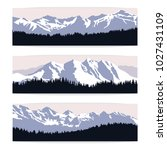set of three landscape banners... | Shutterstock .eps vector #1027431109