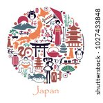 traditional symbols of the... | Shutterstock .eps vector #1027433848