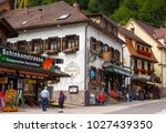 triberg   july 23 2017 ... | Shutterstock . vector #1027439350