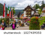 triberg   july 23 2017 ... | Shutterstock . vector #1027439353