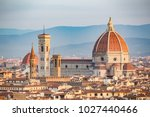 spring. view of florence at the ... | Shutterstock . vector #1027440466