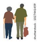happy elderly seniors couple... | Shutterstock .eps vector #1027441459