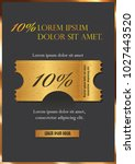 sale text on gold tag banner... | Shutterstock .eps vector #1027443520