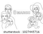 happy international women's day ... | Shutterstock .eps vector #1027445716