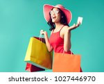 women are shopping in the... | Shutterstock . vector #1027446970