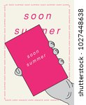summer typographical poster.... | Shutterstock .eps vector #1027448638