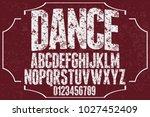 vintage font typeface... | Shutterstock .eps vector #1027452409