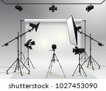 photography studio vector.... | Shutterstock .eps vector #1027453090