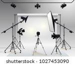 photography studio vector.... | Shutterstock .eps vector #1027453090