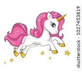 cute little pink  magical... | Shutterstock .eps vector #1027453819