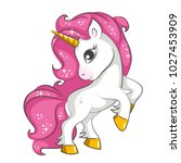 cute little pink  magical... | Shutterstock .eps vector #1027453909