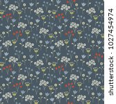 cute floral pattern in the...   Shutterstock .eps vector #1027454974