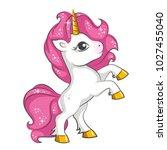 cute little pink  magical... | Shutterstock .eps vector #1027455040