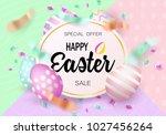 easter eggs sale banner... | Shutterstock .eps vector #1027456264