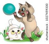 illustration. cartoon. two... | Shutterstock . vector #1027459330