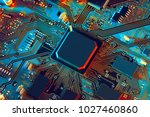 electronic circuit board close... | Shutterstock . vector #1027460860