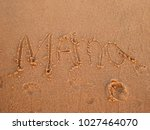 "child has written ""mama"" the...   Shutterstock . vector #1027464070"
