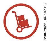 handcart icon on white...   Shutterstock .eps vector #1027466113