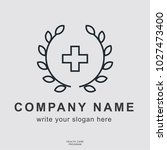 company name business cover... | Shutterstock .eps vector #1027473400