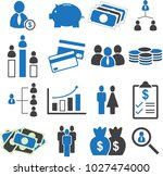 financial marketing  rich and... | Shutterstock .eps vector #1027474000