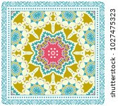 decorative colorful ornament on ... | Shutterstock .eps vector #1027475323