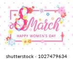 women s day typography   hand... | Shutterstock .eps vector #1027479634