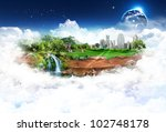 nature landscape with the... | Shutterstock . vector #102748178