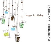birthday and presents... | Shutterstock .eps vector #102748574