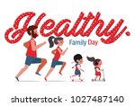 exercise for health vector... | Shutterstock .eps vector #1027487140