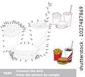 fast food. dot to dot... | Shutterstock .eps vector #1027487869