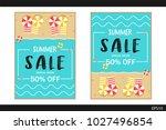 summer sale special offer... | Shutterstock .eps vector #1027496854