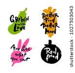 set of hand written lettering... | Shutterstock .eps vector #1027503043
