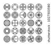 circle geometric vector icon  ...   Shutterstock .eps vector #1027503580