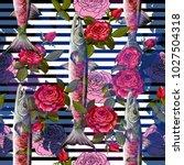 unique fashion sealess pattern  ...   Shutterstock .eps vector #1027504318