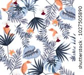 hawaii print vector seamless... | Shutterstock .eps vector #1027505890