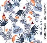 hawaii print vector seamless... | Shutterstock .eps vector #1027505890