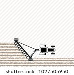 the tractor plows the field... | Shutterstock .eps vector #1027505950