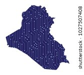 a map of the country of iraq ... | Shutterstock .eps vector #1027507408