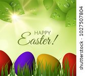 easter holiday vector... | Shutterstock .eps vector #1027507804