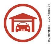 car garage icon on white... | Shutterstock .eps vector #1027508179